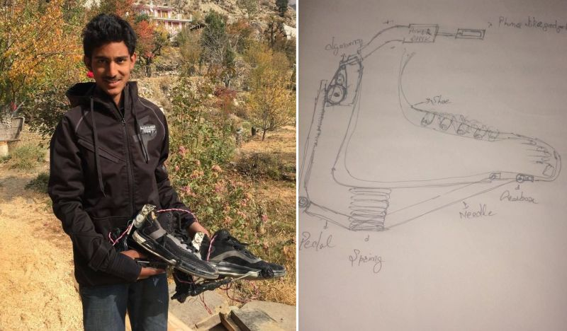 15-year-old boy from Kinnaur has built electricity-generating shoes