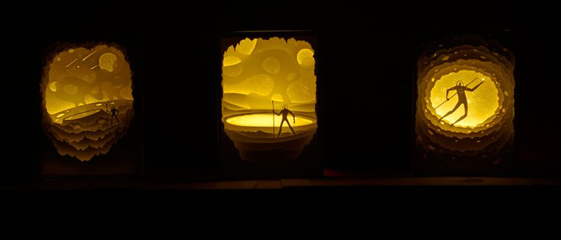 mumbai's husband-wife duo creates paper cut art with light