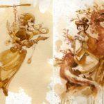 Artist swaps paint for tea to create stunning steampunk art