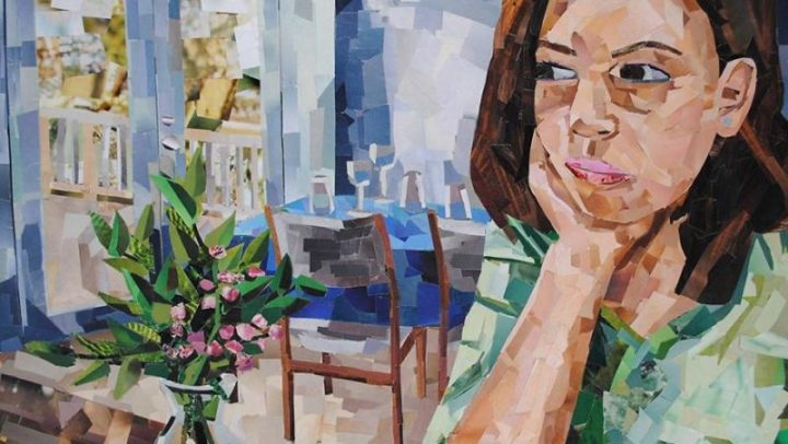 Artist turns everyday magazines into portraits that resemble paintings