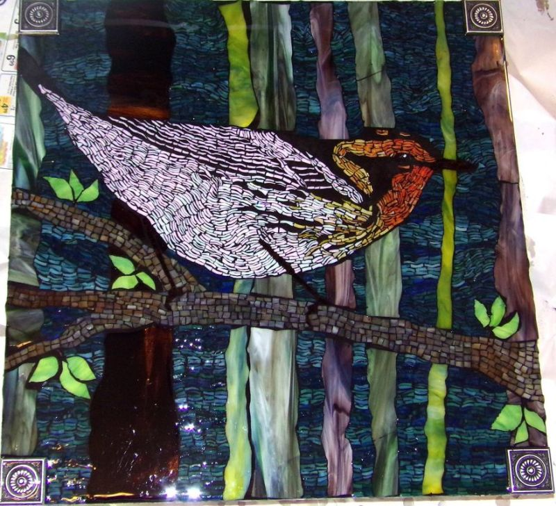 glass mosaic art by Kashena Hottinger