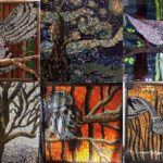 Splendid nature-inspired glass mosaic art by Kashena Hottinger