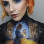 Makeup Artist Uses Her Own Body As Canvas To Make Beautiful Paintings