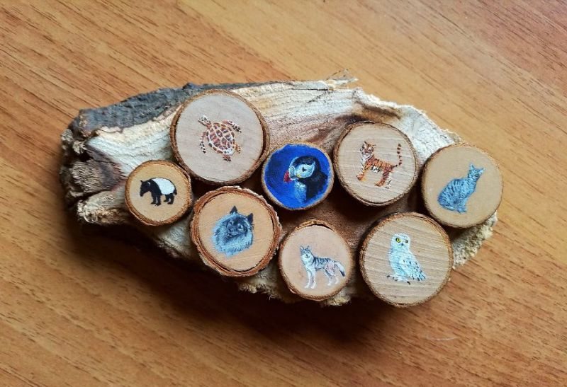 Animal Paintings on Wood by Sarah Postner