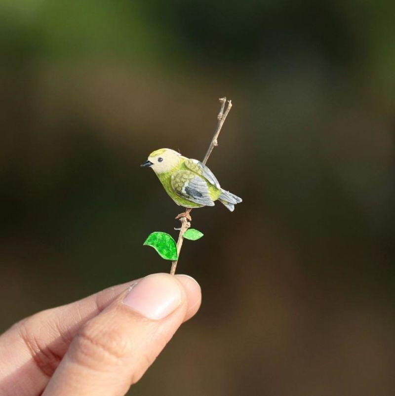 Miniature Paper Birds by NVIllustration