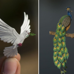 Paper Art by NVIllustration: Miniature Cut Paper Bird Illustrations