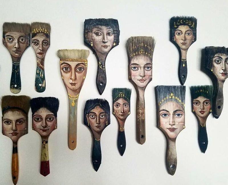 Recycled Art: This surrealist turns worn-out objects into painting canvases