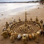Artist spends hours organizing natural objects into detailed mandalas & cairns