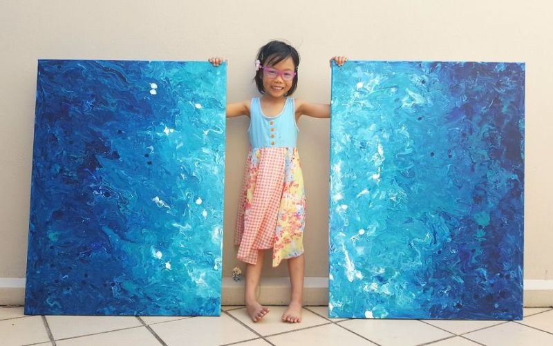 5-Year-Old Girl Sells Her Paintings to Raise Funds for Kids in Africa