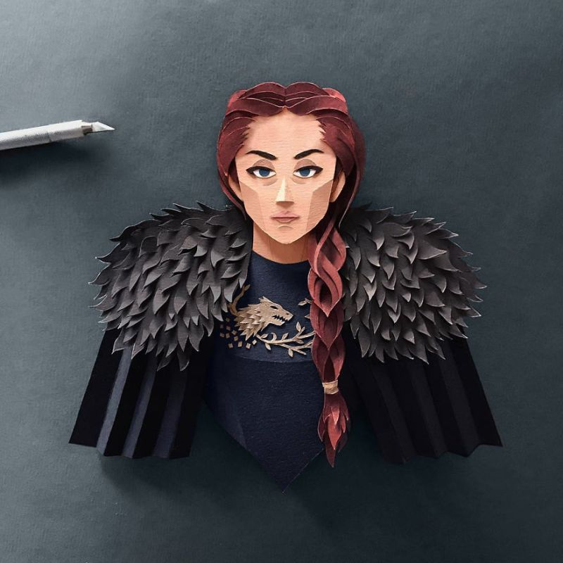 Paper Cut Game of Throne Characters by Robbin Gregorio