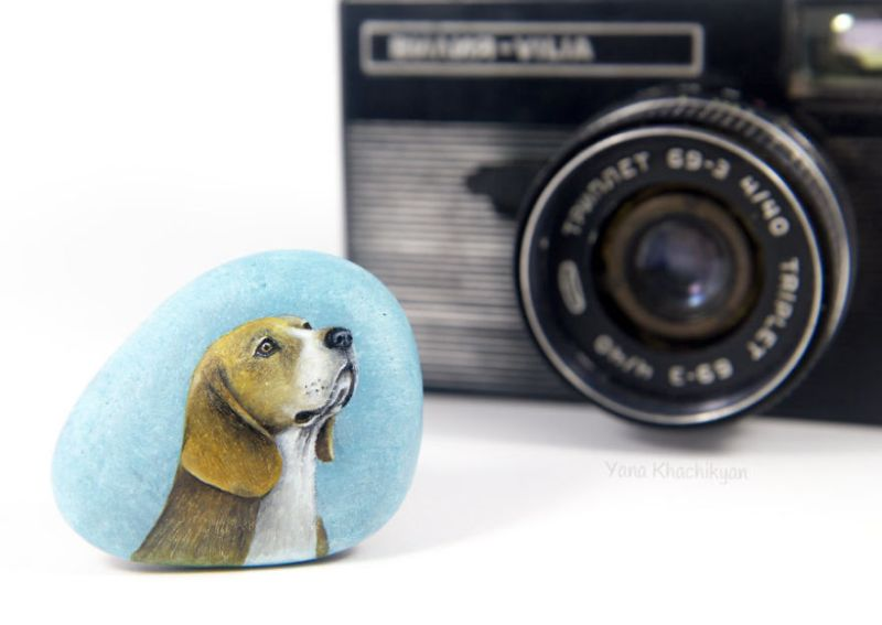 Pet Portraits on Stone by Yana Khachikyan