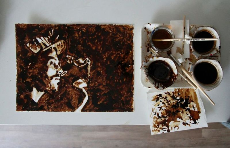 Coffee Paintings by Crade.One
