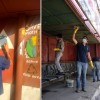 Healing Himalayas Cleaning Drive and Graffiti Art