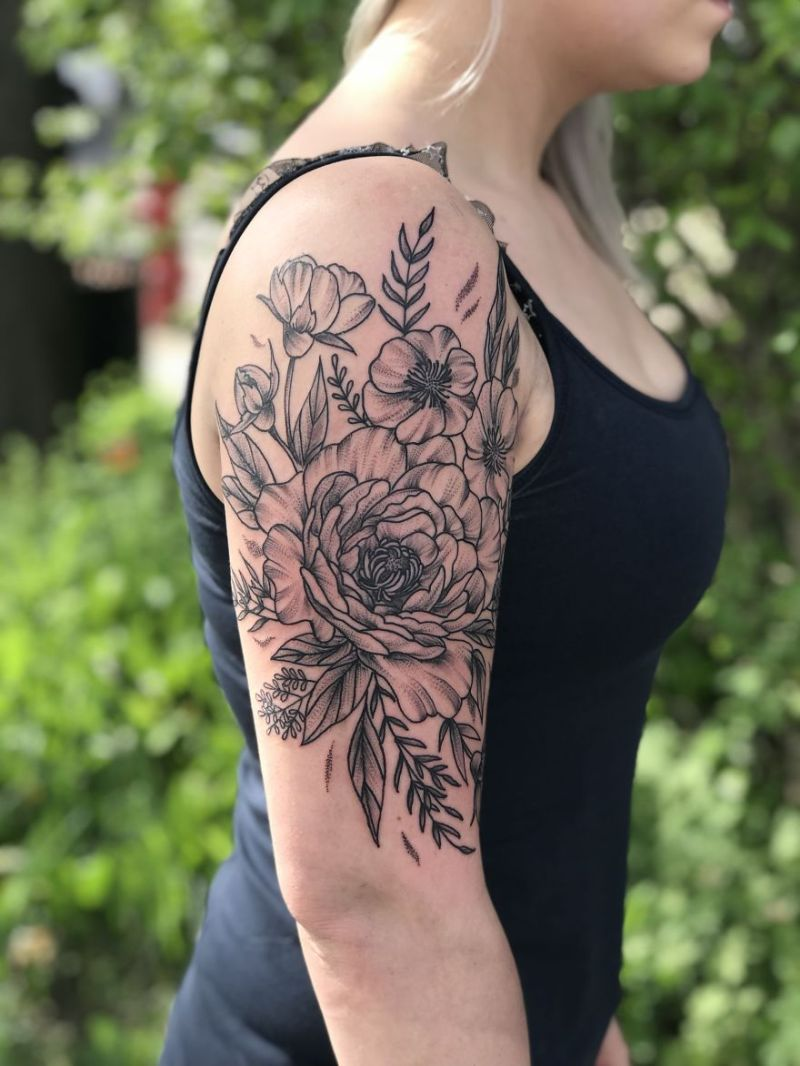 Botanical Tattoos by Tara J. Morgan