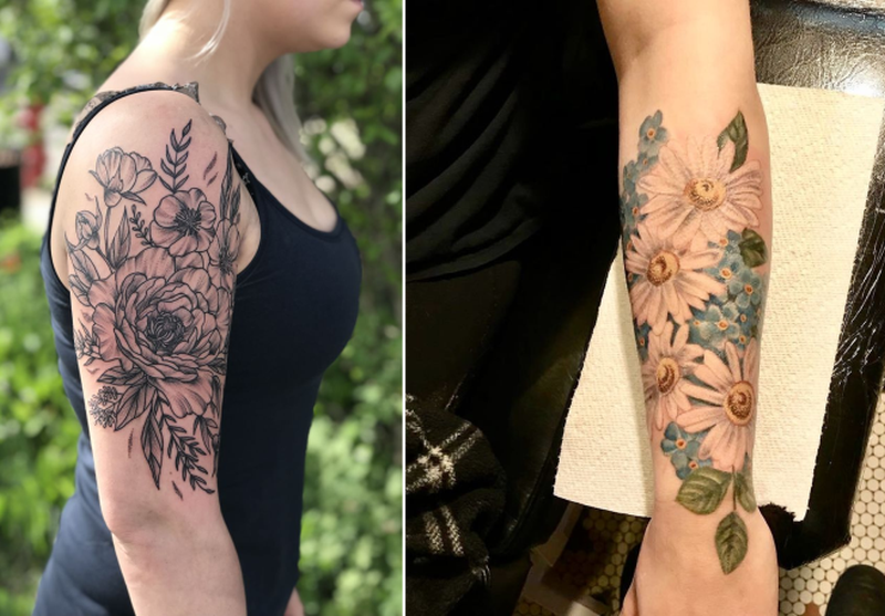 Botanical Tattoo Artist Captures Diverse Beauty of Blooms on Skin