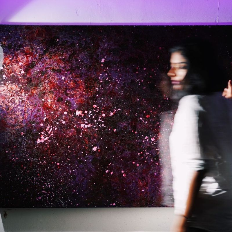 Galaxy Resin Paintings by Shehrezade M. B.-3