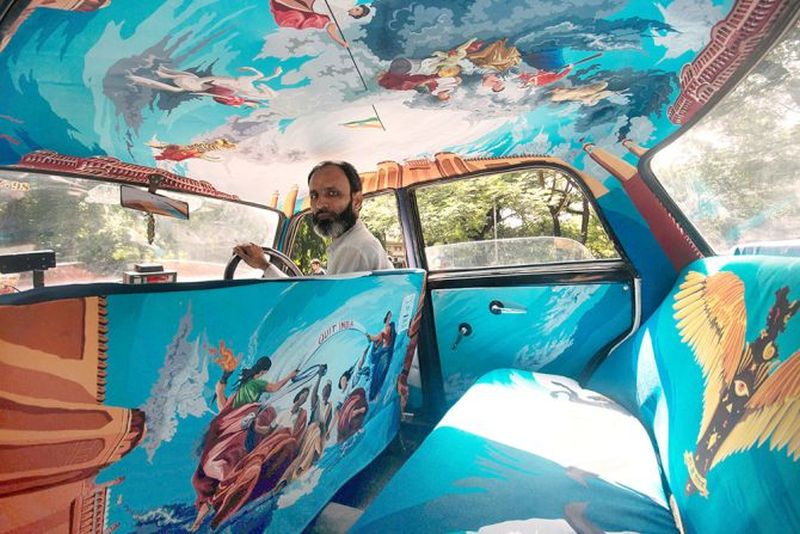 Art on wheels: Taxi Fabric turns Mumbai taxis into sassy works of art