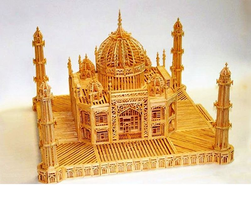 French prisoner in UP jail builds Taj Mahal replica with matchsticks