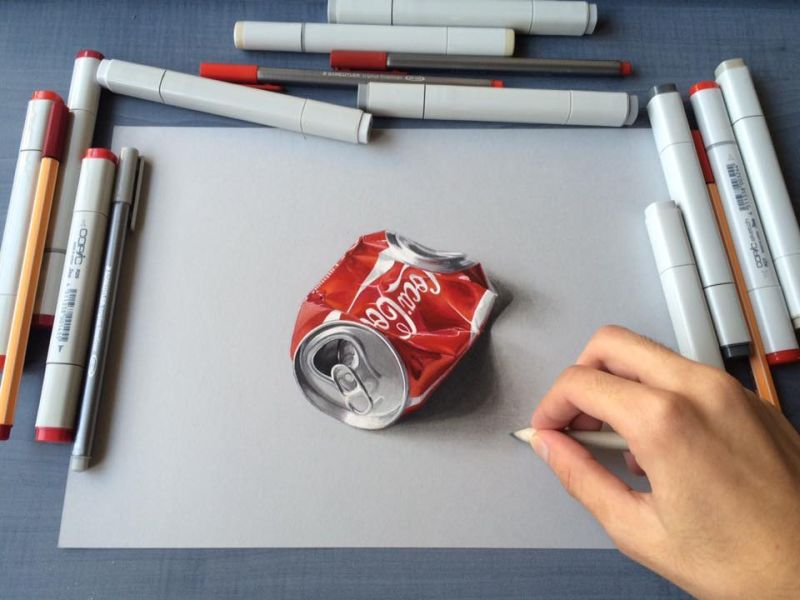 19-year-old Indian artist creates incredibly realistic 3D drawings