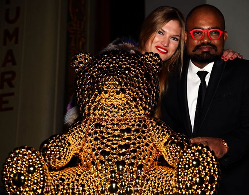 Indian artist's gold 'Teddy Bear' sold at 22,000 Euros for charity