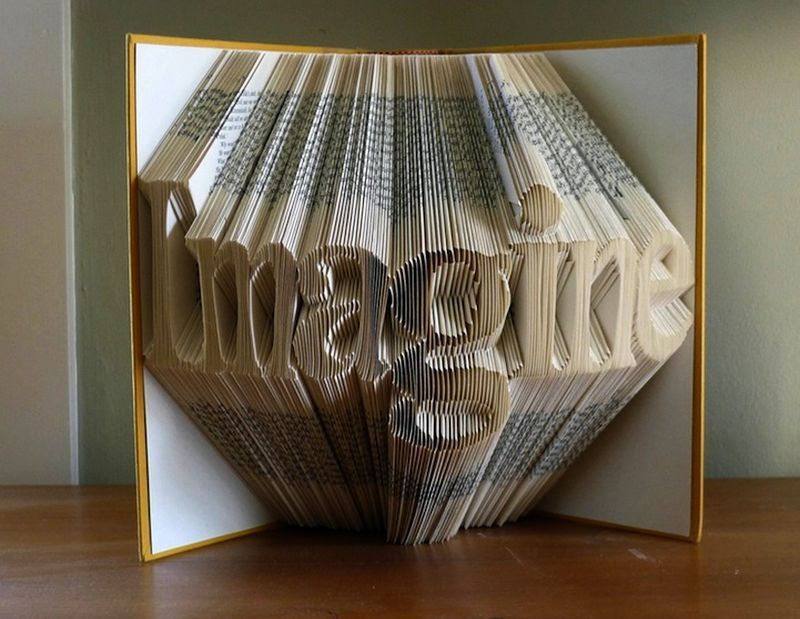 Book Art: Artist creates amazing sculptures with folded book pages