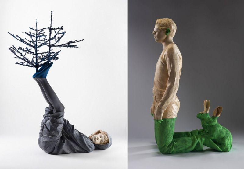 Willy Verginer highlights environmental issues with wooden sculptures