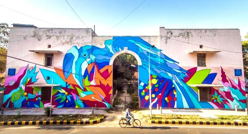 Street Art: Delhi's Lodhi art district boasts artworks of a Brazilian duo