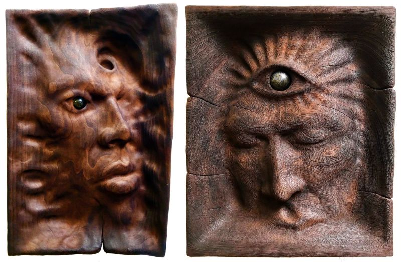 Artist turns his psychedelic visions into unique wood sculptures