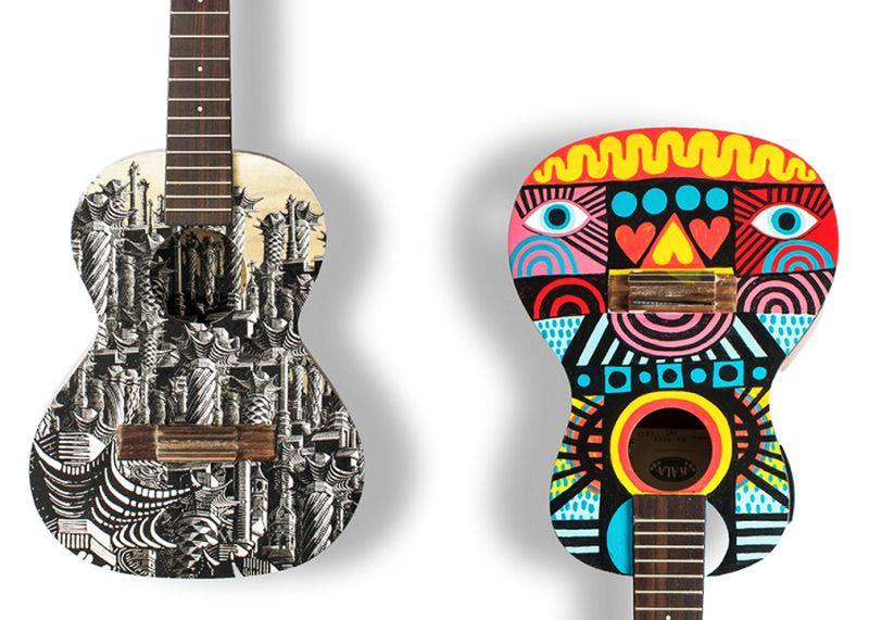 Art on Ukulele: Famed artists paint ukuleles to raise money for a charity