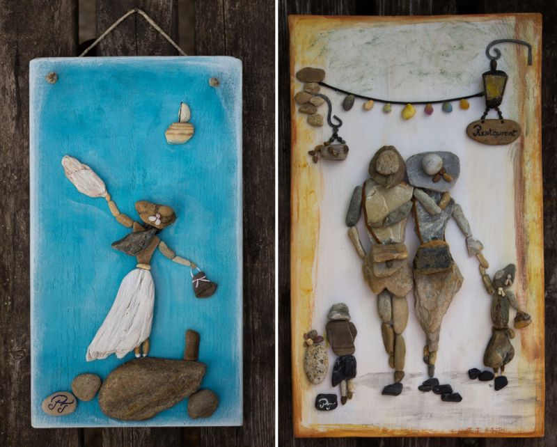 Stone Art: Hungarian artist creates adorable pictures using pebbles