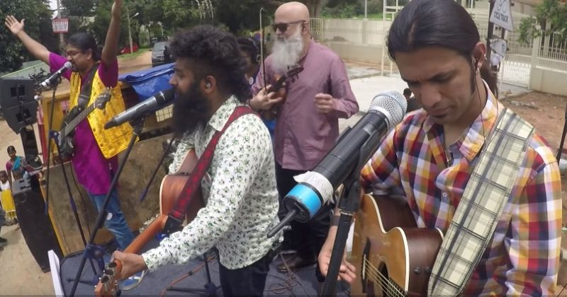 Swarathma cleans up streets of Bengaluru as they play live music