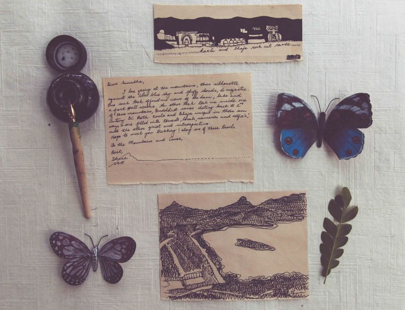 Write a letter to this woman and receive original artwork in return!