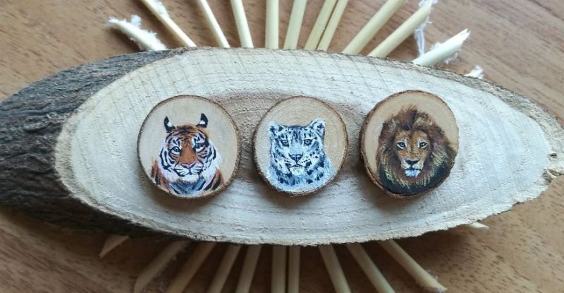 Veterinary student gets crafty with her animal paintings on wood