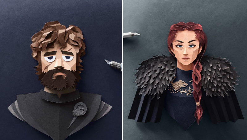 Paper Art: Artist Creates Detailed Game of Thrones Characters Out of Paper