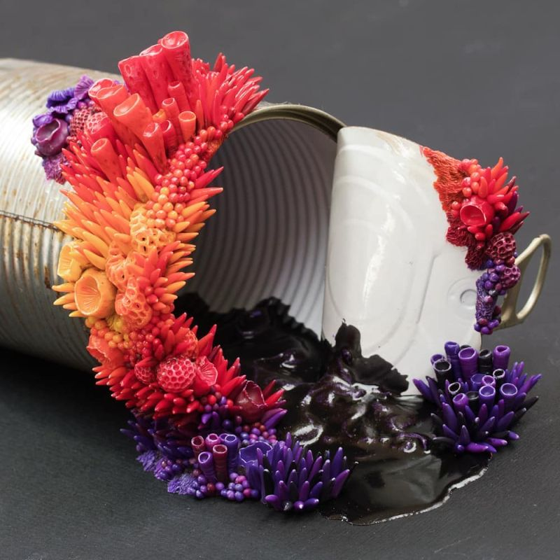 Stephanie Kilgast Takes Discarded Objects and Embellish Them With Coral-Like Sculptures