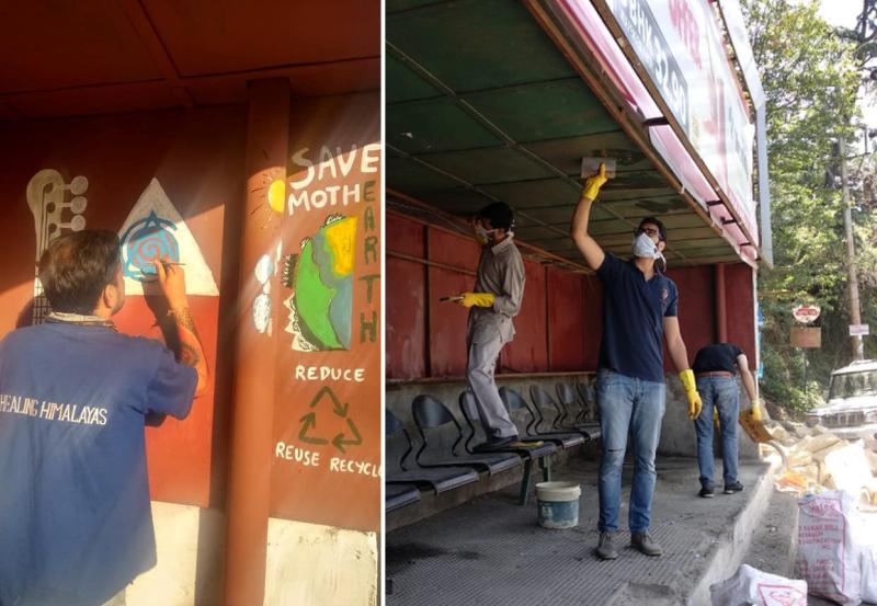 Healing Himalayas Spreads Out Environmental Awareness Through Graffiti Art